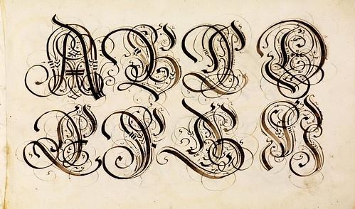 011-Kalligraphische Schriftvorlagen- 1626-1634- Johann Hering- Staatsbibliothek Bamberg