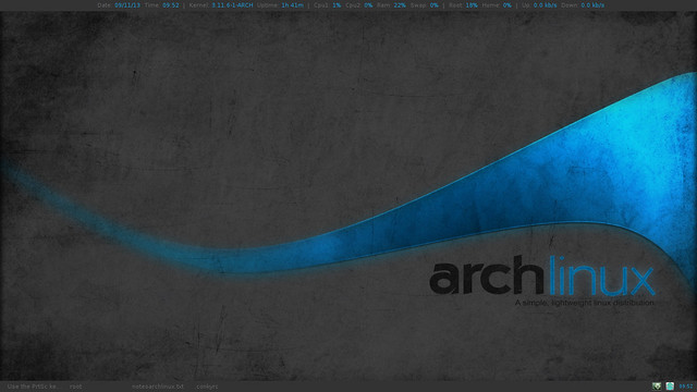Screenshot Arch Linux - mahisaajy.web.id
