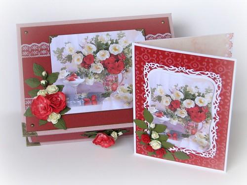 Valged ja punased roosid
