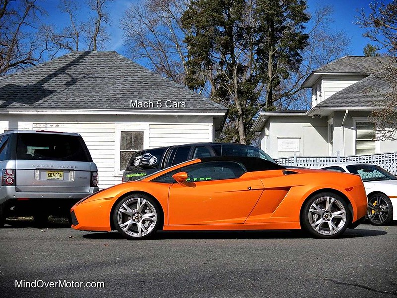 Lamborghini Gallardo Spyder at Mach 5