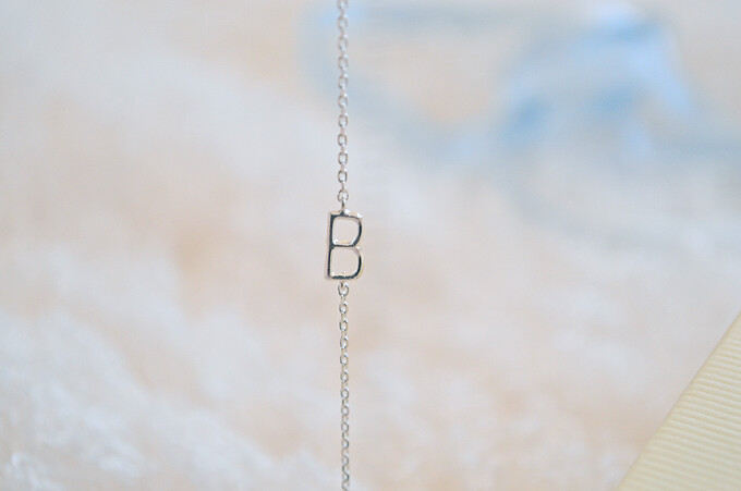 B initial necklace astrid and miyu