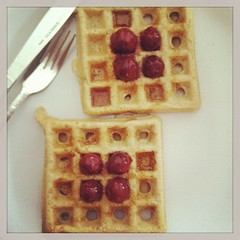 Sunday morning breakfast. #waffles :-)
