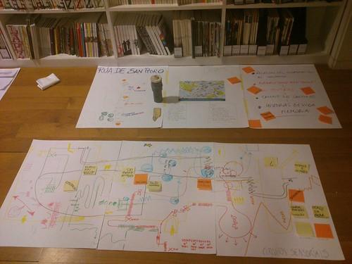 Dos de los mapas colectivos generados durante el taller