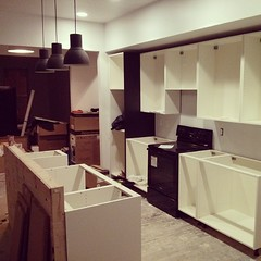 Wrapping up the kitchen. Almost ready for a Saturday move-in. #gutrehab #rehab #ikea