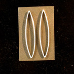 Number 27 - Diane Kuligowski, Mid-century modern earrings, starting bid $25