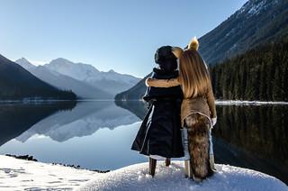 Horo & Alice @ Duffey Lake, British Columbia