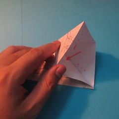 วิธีการพับกระดาษเป็นดาวสี่แฉก 005