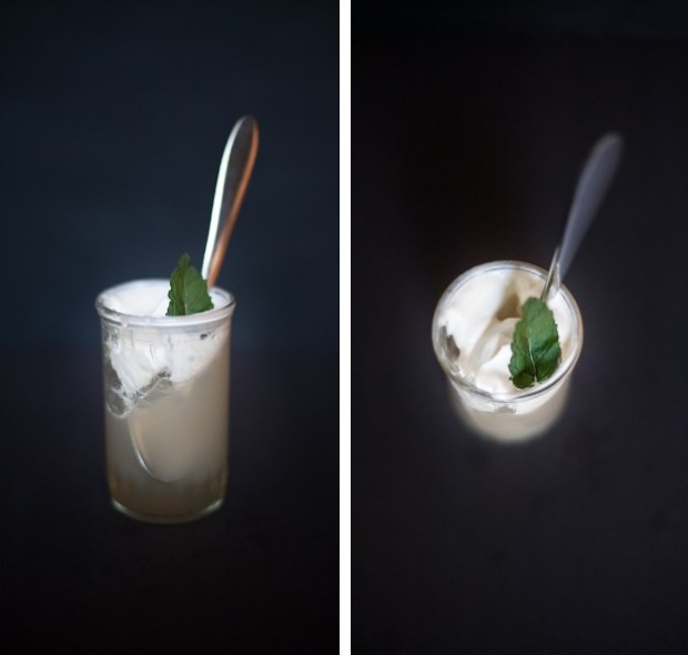 Matcha Mint Tea Jello With Honey Whipped Cream