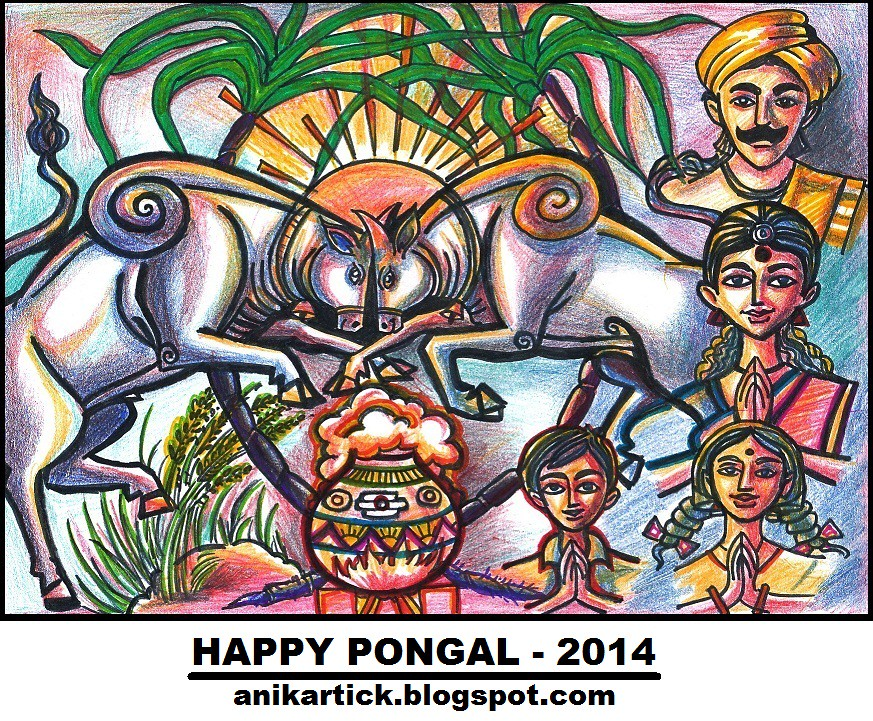 Pongal greetings happy pongal 2014 wishes to you all by artist pongal greetings happy pongal 2014 wishes to you all by artist anikartickchennai m4hsunfo