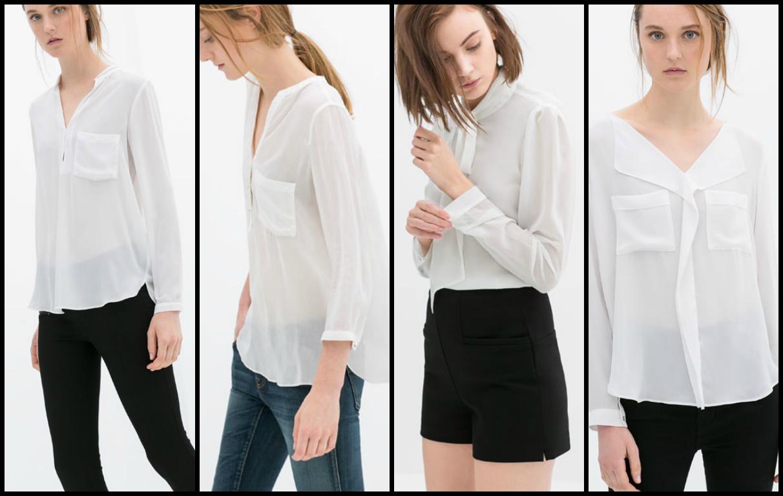 camisas blancas zara