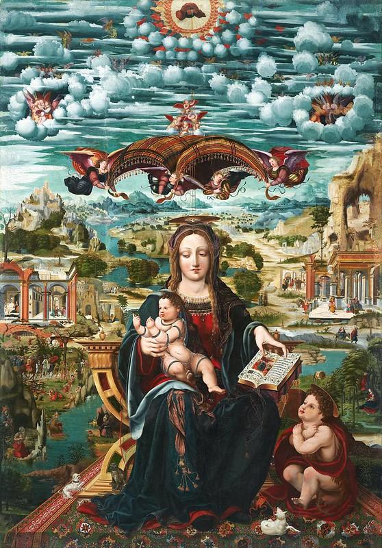 Joan de Burgunya - Virgin and Child with the Infant Saint John (c.1515)
