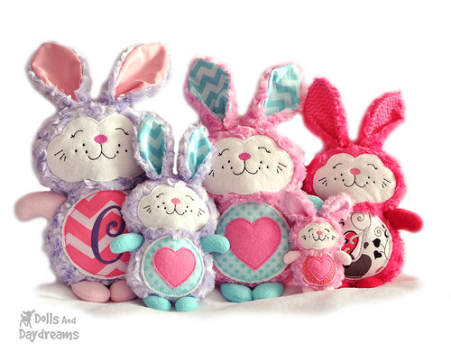 Bunny Rabbit Embroidery Machine ITH Sewing Pattern