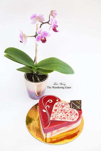 Coeur de Berries cake