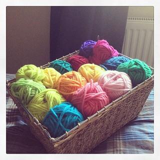 It's a basket of happy #crochetaddict #samples #myboshi #hadtobuysome #shocker