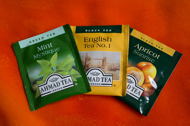 Ahmad Tea samples