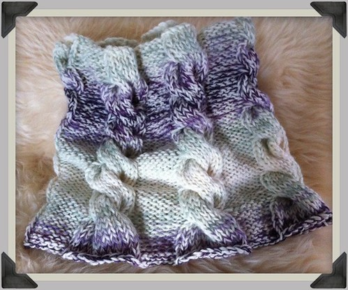 Lavender Sachet Cowl by Beatrixknits