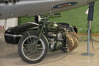 1950's Triumph TRW Military Motorcycle - Canadian Warplane Heritage Museum - Mount Hope Ontario