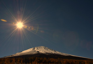 Sun over the Sleeping Giant MT. Fuji........:)
