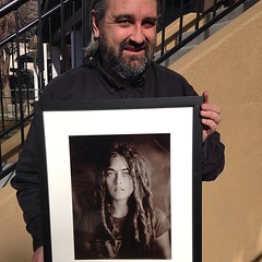 11x14 print framed and matted 16x20 - silver gelatin print from a wet collodion negative. Going to a good home in SF, California!!