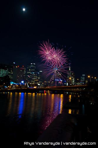 Yarra River Fireworks Display - Melbourne, Australia, 2014