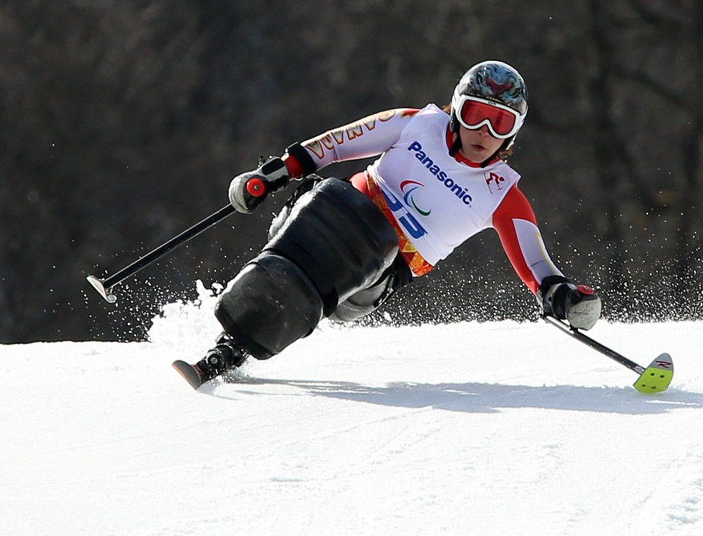 Joines competes in the giant slalom in Sochi, RUS during the 2014 Paralympic Winter Games