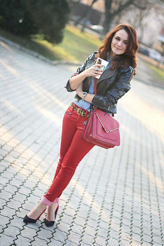 red leather pants 7