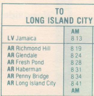 LIRR 1981 Lower Montauk Branch Schedule