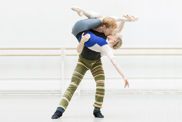 Sarah Lamb and Steven McRae in rehearsal for The Winter's Tale © ROH/Johan Persson, 2014