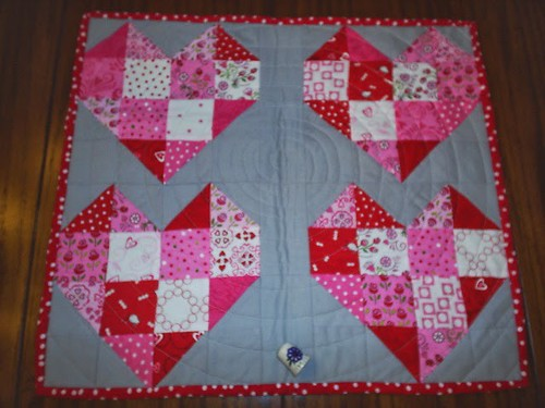 February Love quilt from me to Nedra