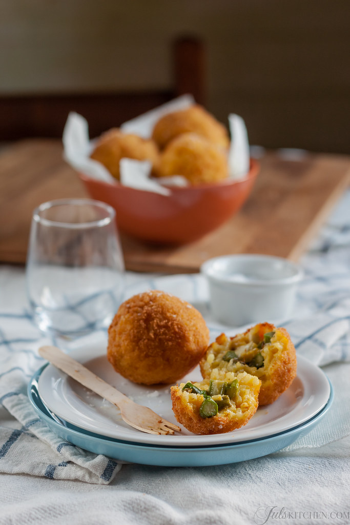 Arancine di riso. Fried rice balls from Sicily