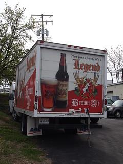 Legend Brown Ale truck