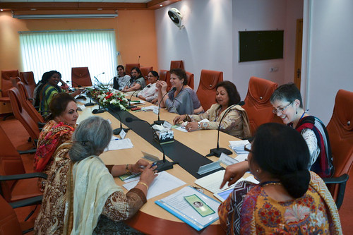 Caroline Welby meets with women from the Church of Pakistan