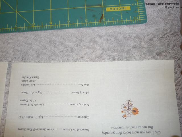 Wedding Handkerchief - Taped Edge (2)