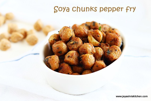 Soya chunks recipe