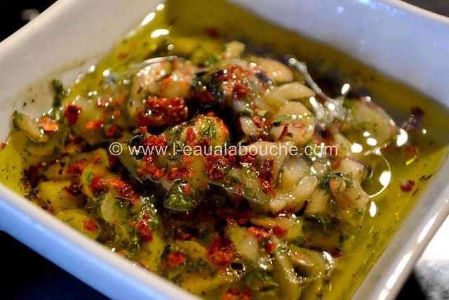 Calamars Grillés aux Epinards & Noix de Cajou  © Ana Luthi