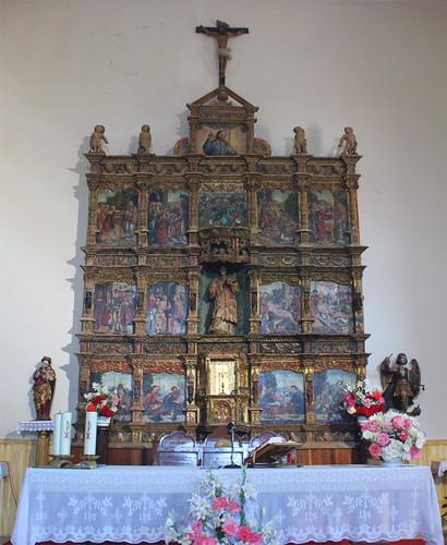 Retablo de San Lorenzo (S.XVI) (Iglesia de San Lorenzo) [Serradilla del Arroyo] {Salamanca}