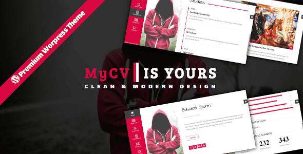 MyCV WordPress Theme free download