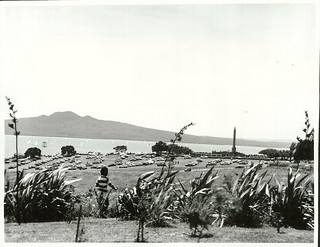 Bastion Point from Orakei Marae, on Regatta Day, January 1977