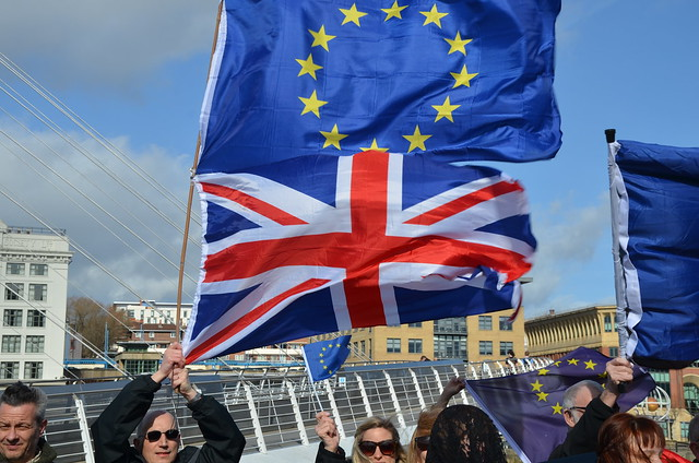 Flying flag for Europe Gateshead Quays Mar 17 (42)