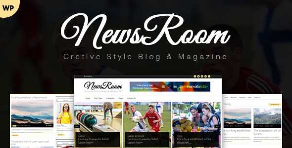 Newsroom WordPress Theme free download