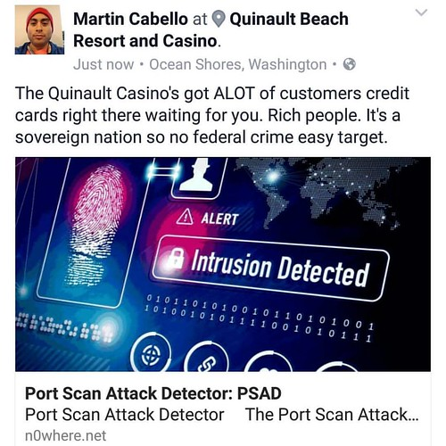 The Quinault Casino's got ALOT of customers credit cards right there waiting for you. Rich people. It's a sovereign nation so no federal crime easy target.