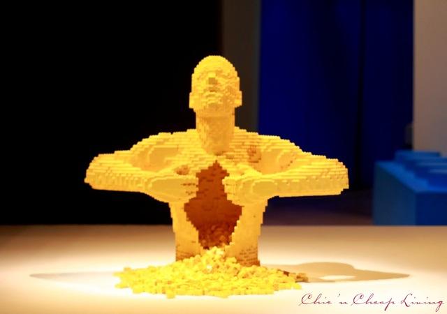 Art of the Brick Yellow by Nathan Sawaya by Chic n Cheap Living