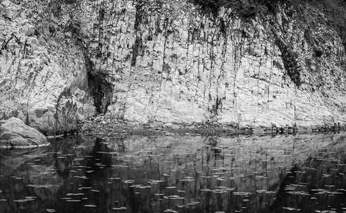 Rock wall at Drakes Beach, Point Reyes