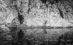 Photograph: Rock wall at Drakes Beach, Point Reyes