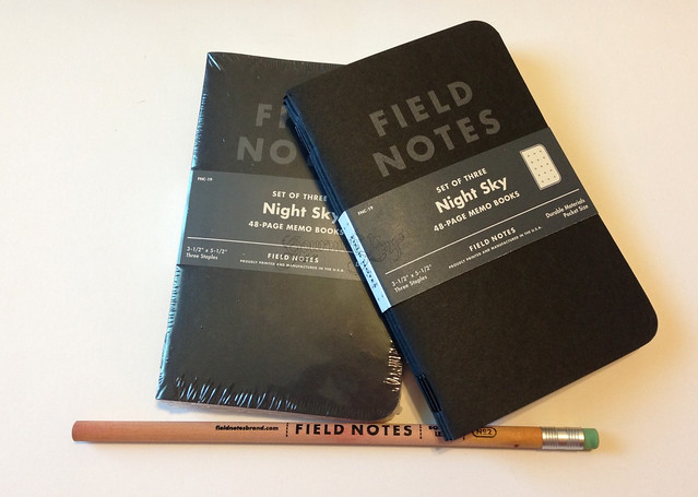 Field Notes Night Sky Shipment & Pencil