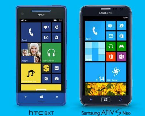 HTC 8XT и Samsung ATIV S Neo