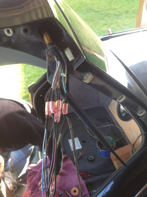 Bmw e39 touring tailgate wiring loom