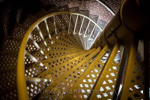 Cape May Lighthouse Stairs By Alex Kaplan www.AlexKaplanPhoto.com by Alex Kaplan, Photographer