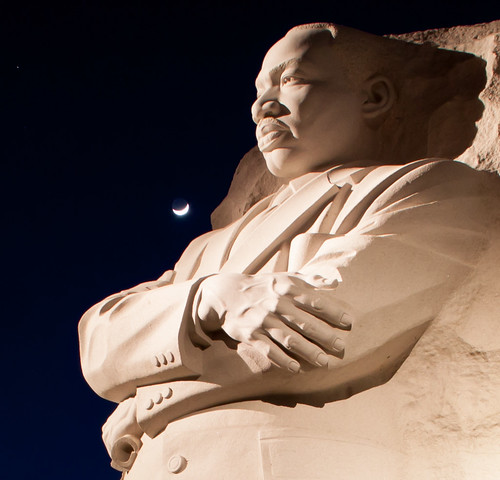 MLK with crescent moon