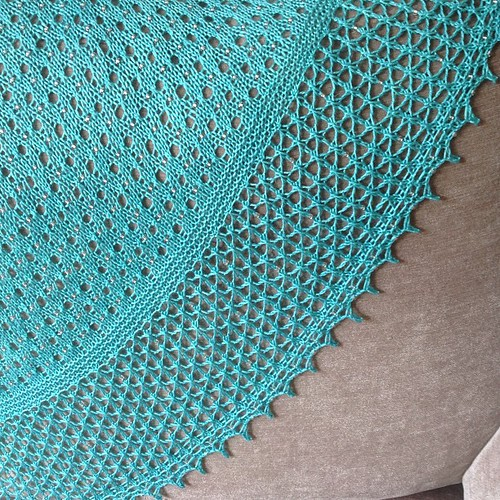 I LOVE this shawl so much. Once again I'm astounded by the magic of blocking.